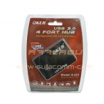 "USB HUB 4 Port ""OKER"" ( 435 ) USB 3.0"