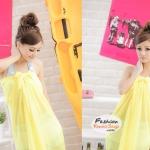 ผ้าคลุมชายหาด Hot Basic : สีเหลือง AB0002