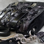  Coach new poppy sequin pushlock flap # 17899