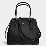 Coach leather minetta crossbody # 34663 สี light gold black
