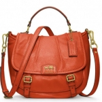 Coach new MADISON LEATHER ANNABELLE # 21223 BRASS / PERSIMMON