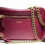 COACH LEGACY LEATHER FLIGHT BAG # 25362 สี DEEP PORT