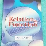 ►The Brain◄ MA 4023 หนังสือกวดวิชา คณิตศาสตร์ ม.4 ความสัมพันธ์และฟังก์ชั่น มีสรุปเนื้อหา สูตรสำคัญ ก่อนตะลุยทำโจทย์แบบฝึกหัด มีข้อควรรู้ ข้อควรระวัง เทคนิคลัดเยอะมาก จดครบเกือบทั้งเล่ม จดละเอียด โจทย์ Assignment มีเฉลยละเอียดและวิธีทำละเอียด