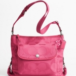 Coach Kyra Daisy Nylon Signature File Bag # 16550 สี Hibiscus