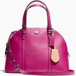 COACH PEYTON LEATHER CORA DOME SATCHEL # 25671