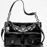 กระเป๋า COACH new POPPY LIQUID GLOSS HIPPIE #18678 Black