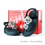 ****FitFlop Floretta : Pewter/Black : Size US 7 / EU 38