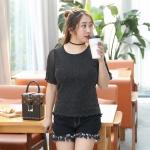 เสื้อยืดสีดำ แขนสั้น (XL,2XL,3XL)