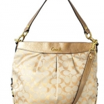 COACH GOLD VANILLA TOTE SHOPPER NWT # 16502