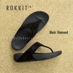 ** พร้อมส่ง ** fitflop Rokkit : Black Daimond Size US 8 / EU 39