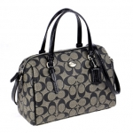 PROMOTION ลูกค้าเก่า !!! COACH PEYTON SIGNATURE BENNETT MINI SATCHEL # 49862 สี SILVER/BLACK/WHITE