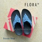**พร้อมส่ง** รองเท้า FitFlop FLORA : Devon Blue : Size US 7 / EU 38