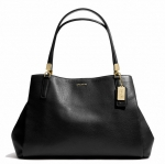 Coach Madison Cafe in Leather Carryall # 27859 สี Brass/Black