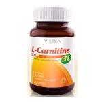 Vistra L-Carnitine 500 mg ( New 3 L )  30 แคปซูล เพิ่มประสิทธิภาพการเผาผลาญพลังงานด้วยกรดอะมิโน 3 ชนิด