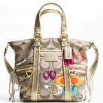 Coach DAISY POP C APPLIQUE POCKET TOTE # 21101