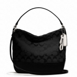 COACH Park Signature Mini Duffle Crossbody Bag #  49158 สี Black
