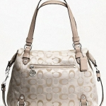 กระเป๋า Coach 3 COLOR SIGNATURE ALEXANDRA # 17580 สี Silver / Ivery
