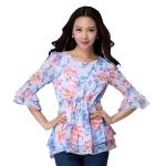 เสื้อชีฟองลายดอกไซส์ใหญ่ (XL,2XL,3XL)