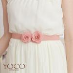 ♥♥พร้อมส่งค่ะ♥♥ เข็มขัดแฟชั่นลายดอกไม้ สีขาว กับ สีชมพู