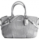 Coach Madison Gathered Leather Sophia Satchel # 15942 GREY