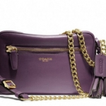 COACH LEGACY LEATHER FLIGHT BAG # 25362 สี BLACK VIOLET