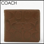 Coach Embossed Men's Bifold Signature Coin Wallet # 74531