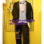 เสื้อสูทเด็กชายรุ่นโต(สีดำ)