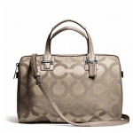 COACH TAYLOR OP ART SATEEN SATCHEL # 25503 สี FLINT