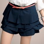 กางเกงขาสั้นแต่งเลเยอร์ สีกรมท่า XL 2XL