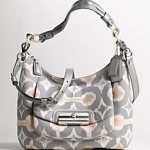 Coach new kristin op art ikat print hobo handbag # 16936