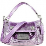 Coach Limited Edition Sequin Groovy Convertiable Shoulder Bag # 15381 สี Lilac