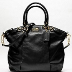COACH MADISON LEATHER LINDSEY SATCHEL #18641  Brass Black