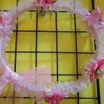 มงกุฎดอกไม้เจ้าหญิงสีชมพู