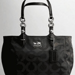 Coach Mia Op Art Sateen Tote # 15758 Black