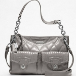 กระเป๋า COACH new POPPY LIQUID GLOSS HIPPIE  #18678  Grey สำเนา