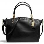 COACH MADISON SMALL KELSEY SATCHEL IN LEATHER # 28095 สี BRASS/BLACK