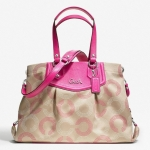 Coach Ashley Dotted Op Art Carryall Purse #  20049