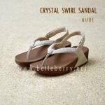 **พร้อมส่ง** FitFlop : CRYSTAL SWIRL Sandal : Nude : Size US 8 / EU 39