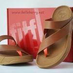**พร้อมส่ง** รองเท้า FitFlop Sling Leather : Tan : Size US 8 / EU 39