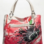 COACH POPPY PLACED FLOWER GLAM TOTE #19029