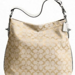 COACH 16538 PENELOPE SIGNATURE LIGHT KHAKI/WHITE SHOULDER BAG