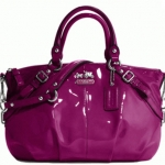 Coach Madison Patent Sophia Satchel #15921 Berry