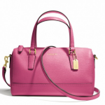 PROMOTION ลูกค้าเก่า !! COACH SAFFIANO LEATHER MINI SATCHEL # 49392 สี HOT PINK