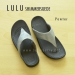 **พร้อมส่ง** New 2015 !! FitFlop LULU Shimmersuede : Pewter : Size US 7 / EU 38