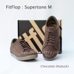 รองเท้า FitFlop Men's Supertone M : Chocolate (Nubuck) Size US 10 / EU 43