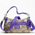 COACH DAISY SIGNATURE CROSSBODY # 20044  Khaki Violet