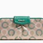 COACH ASHLEY DOTTED OP ART SLIM ENVELOPE WALLET # 48050