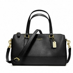COACH SAFFIANO LEATHER MINI SATCHEL # 49392 สี BRASS / BLACK