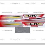 สติ๊กเกอร์ GTO ปี 2004 ติดรถสีแดง
