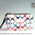 Coach Bleecker Multi C Print Coated Canvas Small Wristlet # 51341